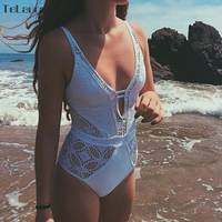 Sexy Lace One Piece Swimsuit 2017 Swimwear Women Monokini Crochet Bodysuit Plus Size Swimwear Brazilian Bathing