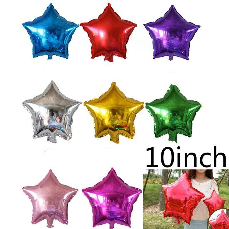 Горячие 10 шт./лот 10 дюймов звезда шары 25 см Пятиточечные баллон для Одежда для свадьбы, дня рождения поставки надувные Globos
