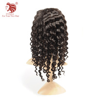 FYNHA Lace Front Brazilian Virgin Hair Kinky Curly Human hair Wigs for women With Baby Hair Natural Black Color Free Shipping