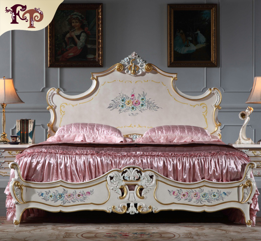 2016 new design french country luxury bedroom furniture antique furniture bedroom queen size bed
