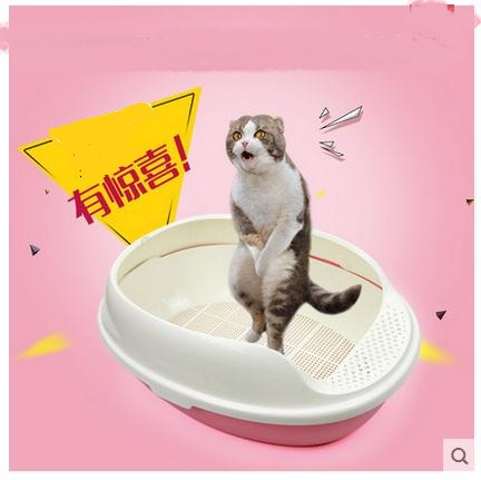 Three Layers Of Cat Sand Basin Pet Cat Toilet Apply Crystal Cat Litter      Size: 50 * 38 *20 Cm