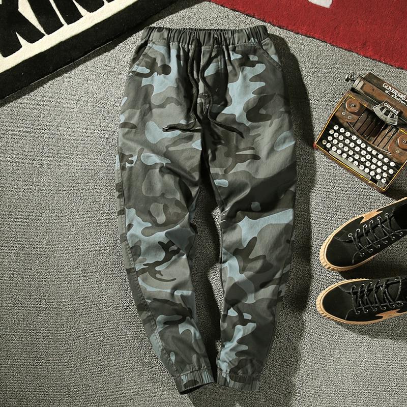 Summer new arrival ankle-length pants men camouflage cargo fashion Korean hip hop male camo trousers joggers plus size trousers