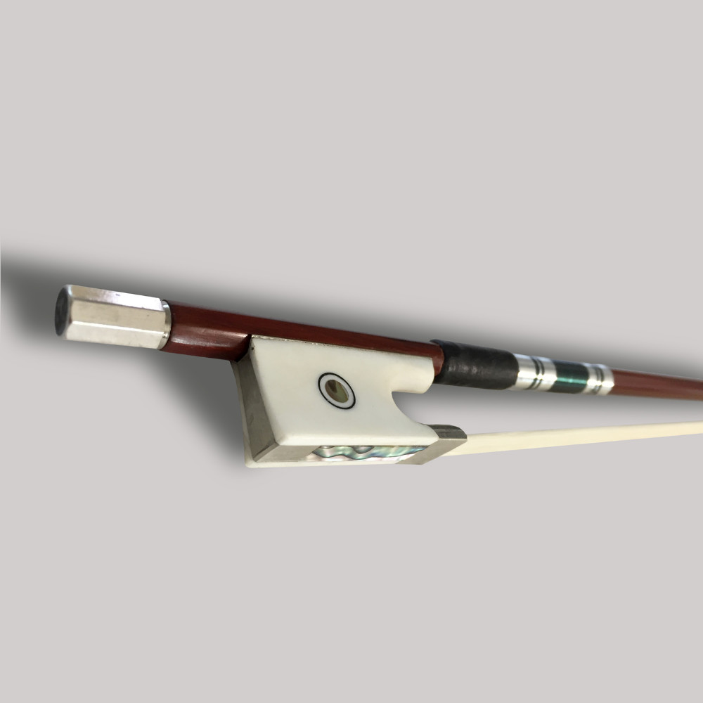 TONGLING High-End Violin Bow 3/4 4/4 Exquisite Horsehair Brazilwood Imitation Ivory Bow FiddleViolino Bow parts accessories high quality violin bow size 1 8 1 4 1 2 3 4 4 4 carbon fibre bow horse hair violin accessory black bow accessories