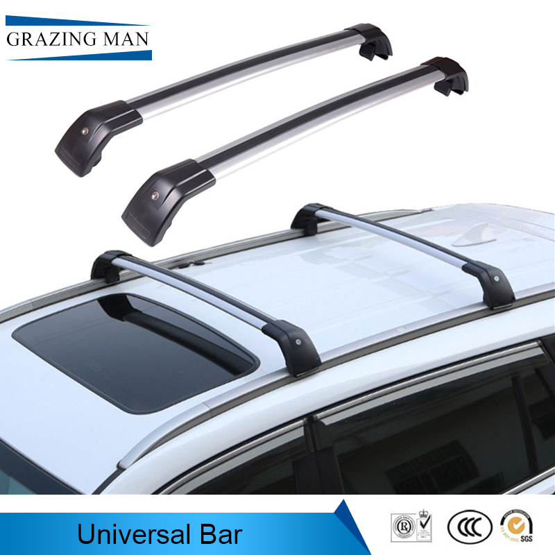 universal Luggage Rack Crossbar Car Roof Frame Thick Aluminum Alloy Travel Bars