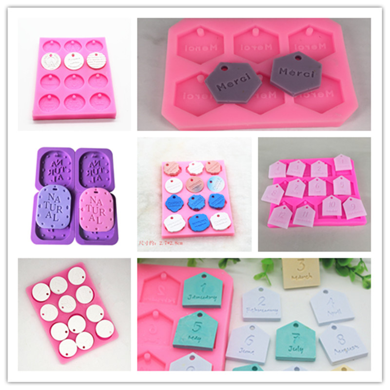 Wholesale aromatherapy plaster wax candle mold car pendant plaster hanging craft silicone molds in Candle Molds from Home Garden