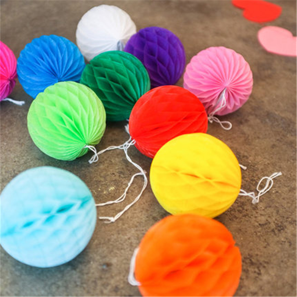 1 unids / lote 15 CM navidad Honeycomb Balls decoraciones de la - Para fiestas y celebraciones - foto 4