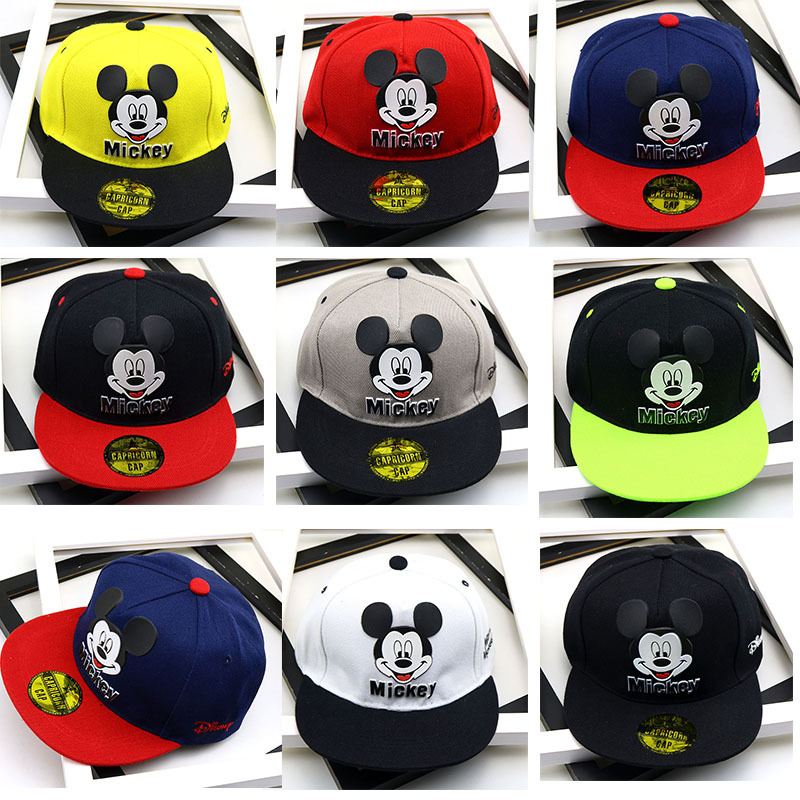 RUN·S·H Baby Mickey Kids Boys Girls Snapback Cap Cute