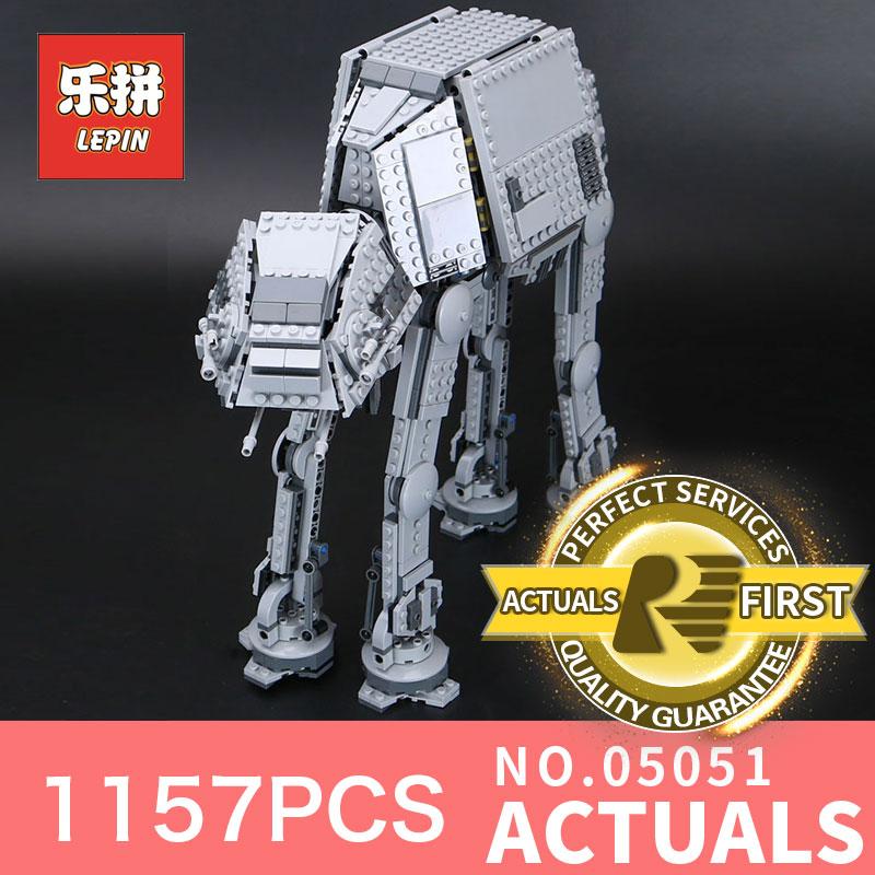 1157Pcs Lepin 05051 Star Wars Force Awaken The AT Transpotation Armored font b Robot b font