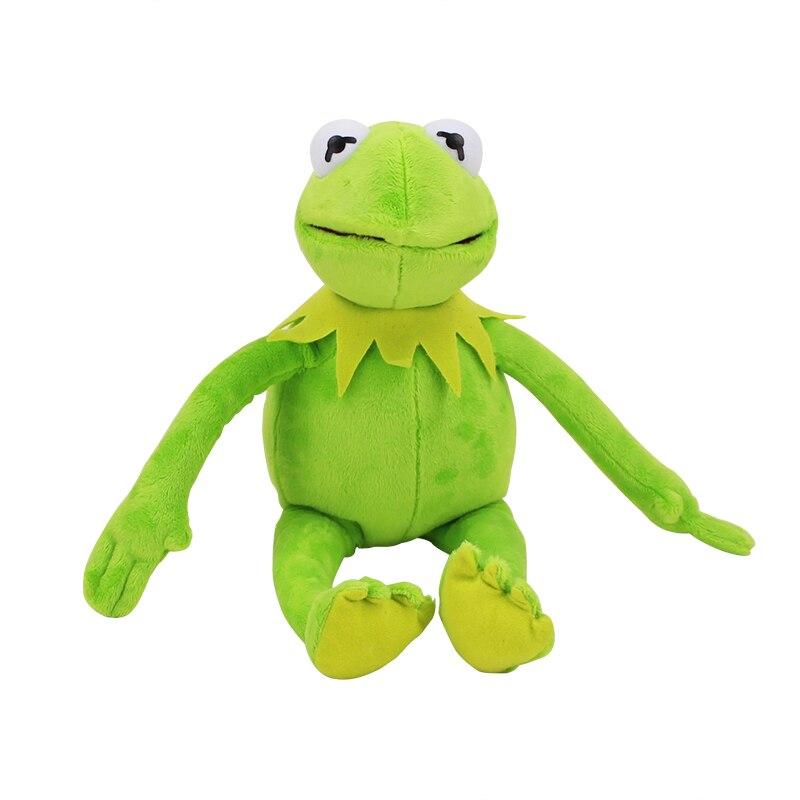 Novedad 41 cm Plaza Sésamo felpa juguetes Kermit la Rana suave peluche Animal muñeco de peluche para regalo de bebés niños