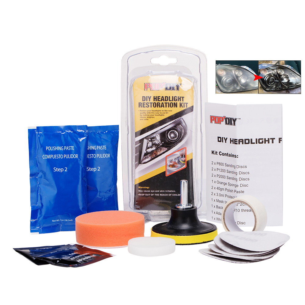 Headlamp Lenses Cleaning Kit Diy Headlight Restore Faded Discoloured