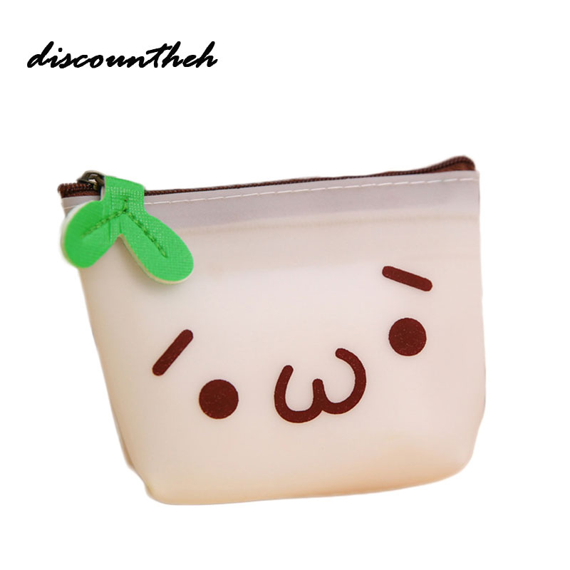 купить Women Girls Cute Printed Coin Purse Fashion Snacks Coin Purses Wallet Bag Silicone Zipper Small Change Pouch Key Holder Bags недорого