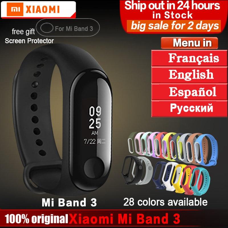 Original xiaomi mi band 3 armband armband mi band 2 3 Fitness Tracker Smart Armband Herzfrequenz Monitor Android