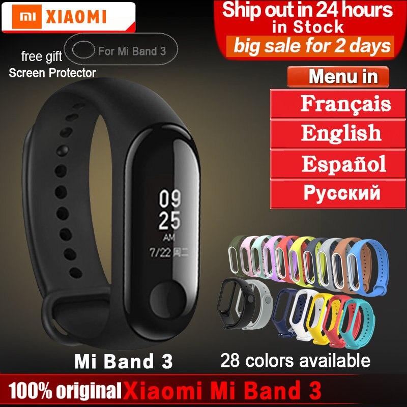 Original xiaomi mi banda 3 pulsera mi banda 2 3 Fitness Tracker pulsera inteligente Monitor de ritmo cardíaco Android