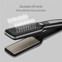 Professional Hair Straightener 3D Floating Plate Ultra Wide Flat Iron Titanium Ceramic Negative Ions Hair Straightening Iron 35