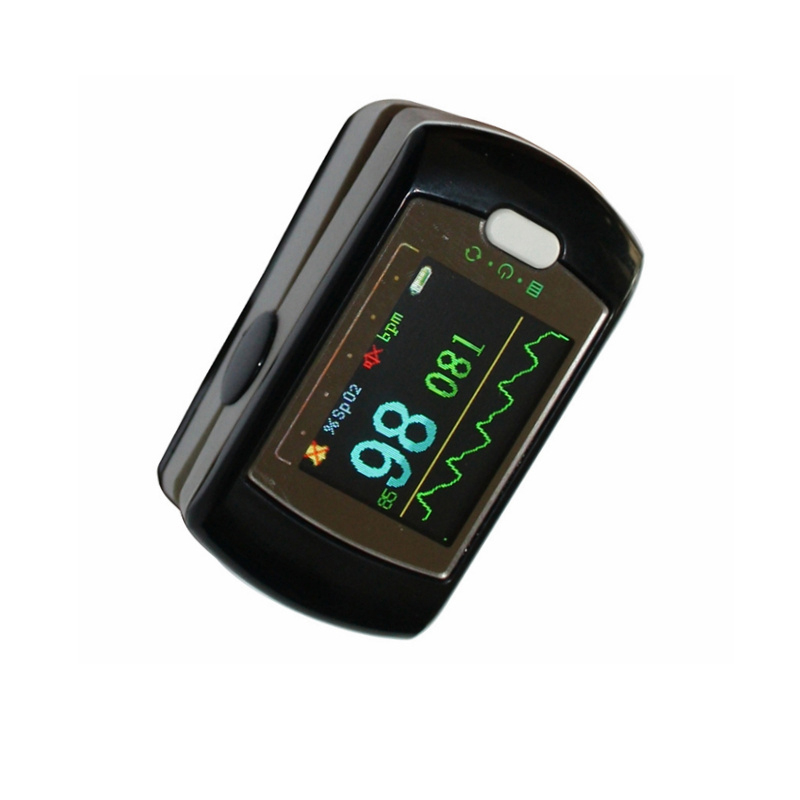 Best buyer 24 hours Fingertip pulse oximeter monitor SpO2, PR, PI with OLED colot display Appreoved CE Blood Stream Perfusion color oled wrist fingertip pulse oximeter with software spo2 monitor