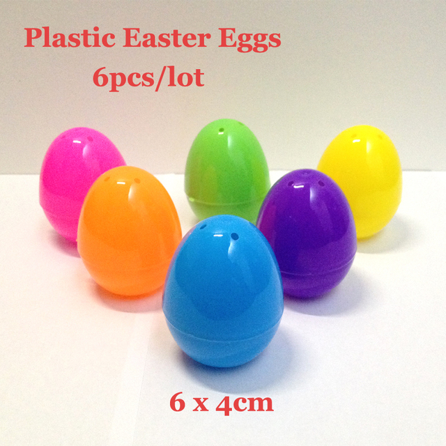 64cm Pascoa Solid Colors Toys Opening Plastic Easter Eggs Eggshell Candy Box For Children