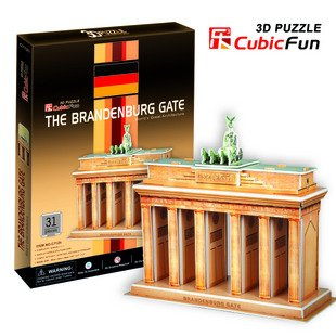 CubicFun 3D puzzle children gift DIY toy paper assemble building model The Brandenburg Gate Germany worlds great architrecture