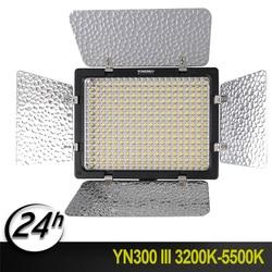 New Yongnuo YN-300 III 3200k-5500K 150 LED Lamp Beads CRI95 Camera Photo LED Video Light with AC Power Adapter