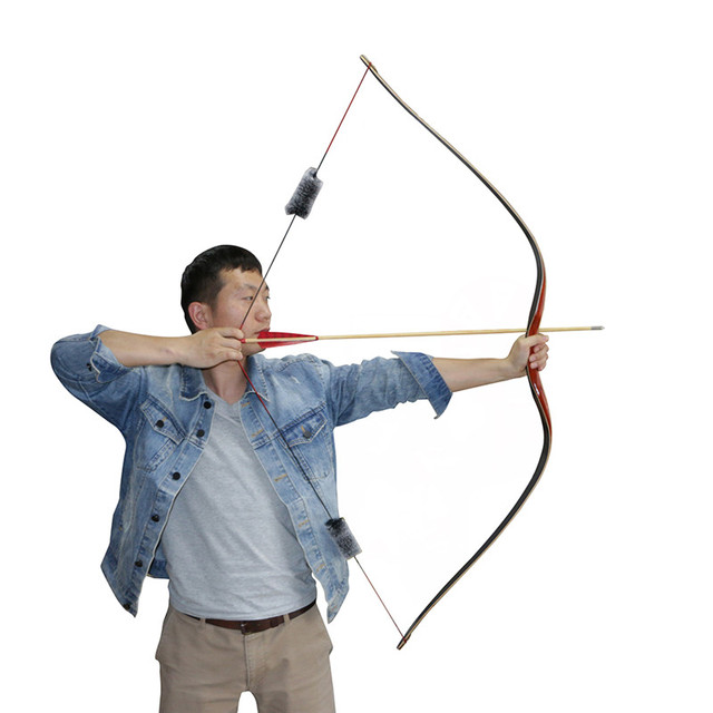 Toparchery 30-50lbs Traditional Bow High-tech Riser Wooden Hunting Target Shooting Laminated Longbow Outdoor Archery Accessories