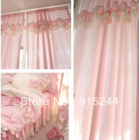 Online Get Cheap Ruffled Curtains Pink Aliexpress Com Alibaba Group