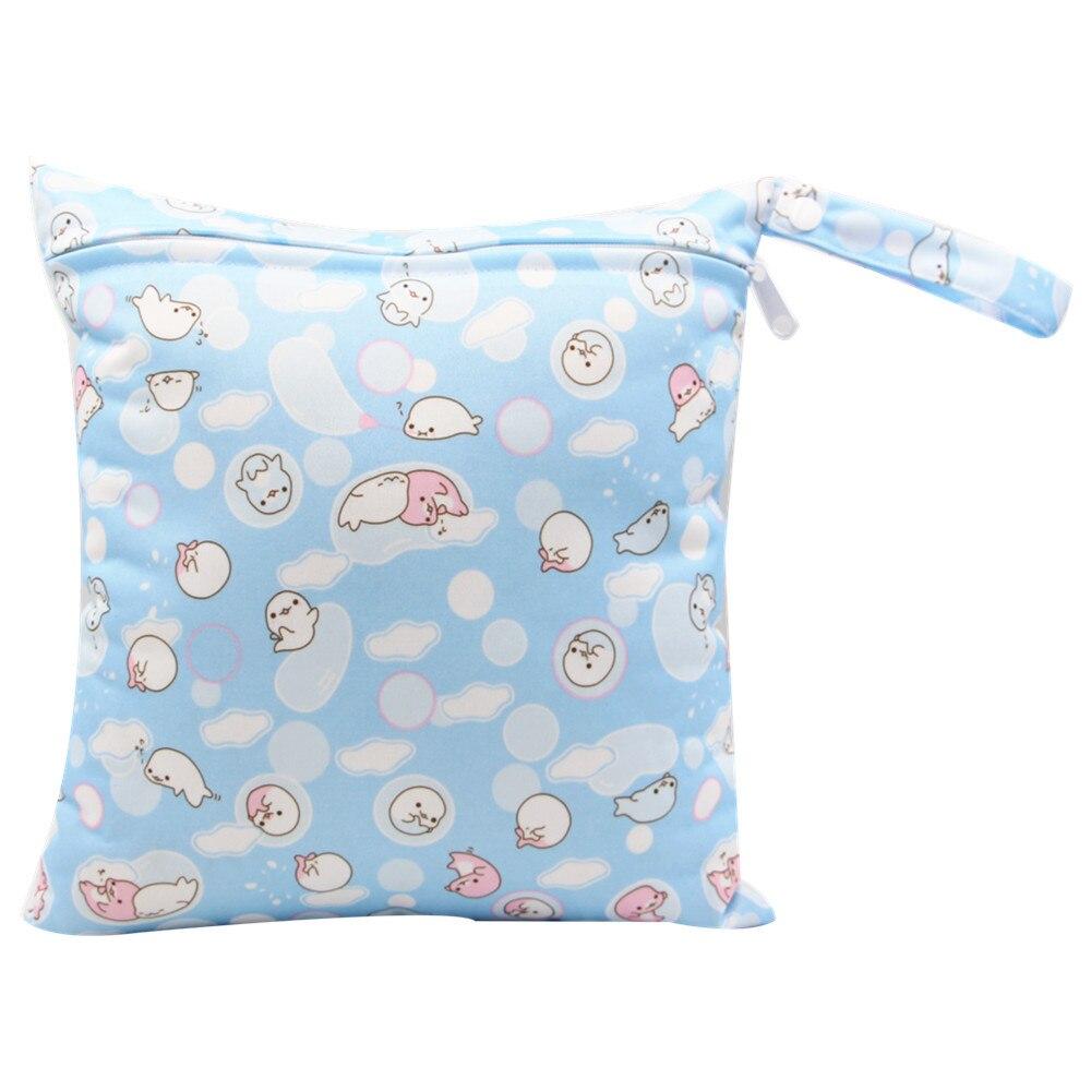 HTB1apNtajzuK1RjSspeq6ziHVXau Cute Cartoon Striped Baby Diaper Bag Waterproof Travel Maternity Small Wet Bags for Mommy Storage Stroller Accessories 28*30cm