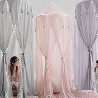 Nordic Round Princess Baby Girl Boy Bed Curtain Crib Netting Kids Tent Room Decoration for Children Infant Crib Mosquito Net