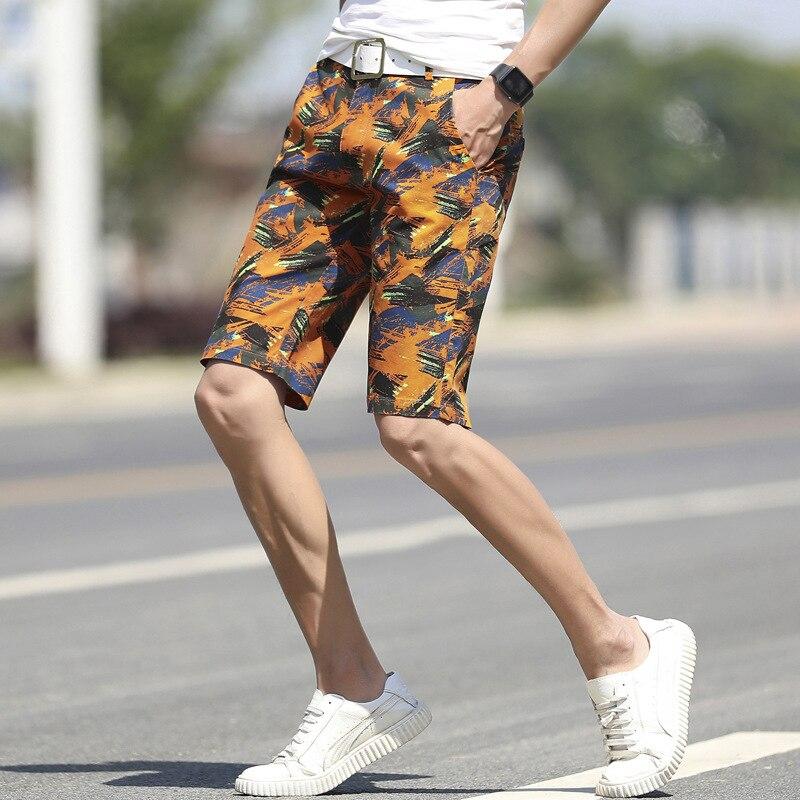 2019 Causal Beach Shorts Men Print Loose Camouflage Board Shorts Men Breathable Board Shorts 4 Colors
