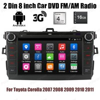Android 4 4 4 Core Car DVD Player 16G ROM 2 Din 8 Inch Stereo BT