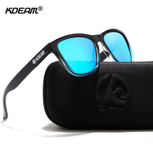 Sunglasses By KDEAM Glare-reducing Polarized Glasses Men Casual Outdoor Couple Sunglass With Black Case Fresh Colors