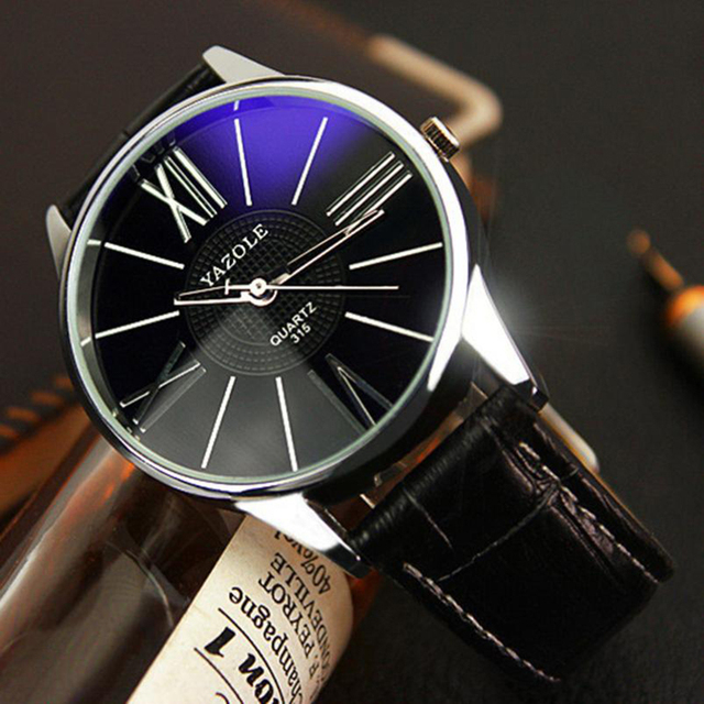 HOT New Fashion Mens Watches Top Brand Luxury Leather Strap Business Quartz Watch Men Wristwatch Relogio Masculino Drop Shipping