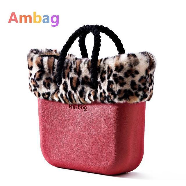 Large Capacity Leopard Tote Bag Clic Bags Women Beach Eva Plastic Canvas Liner Handle