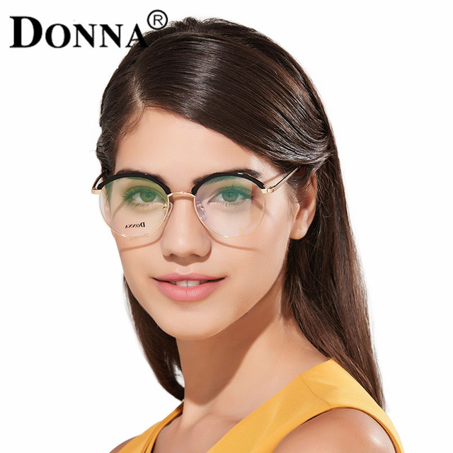 ca275c0841 Donna Fashion Reading Eyeglasses with clear lens Optical Round Glasses  Frames Glasses Women New TR90 Frame