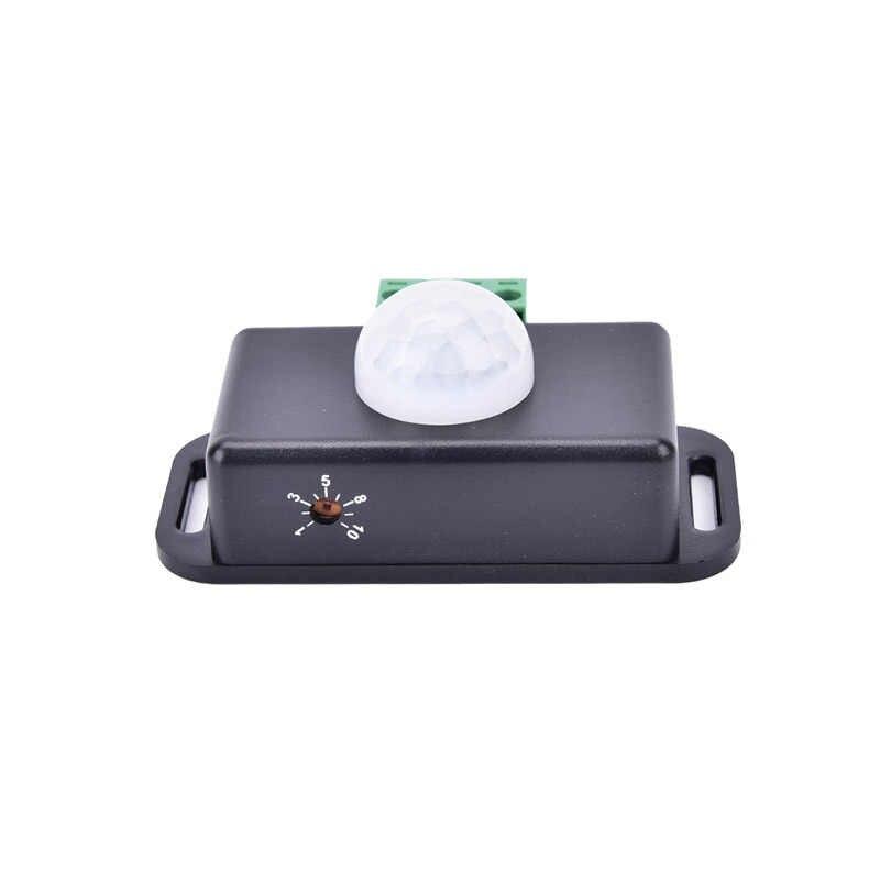 Gorąca sprzedaż nowy 12 V 24 V z tworzywa sztucznego + metal Mini ruchu PIR czujnik przełącznik dla taśmy LED taśma oświetlająca na podczerwień wykrywania