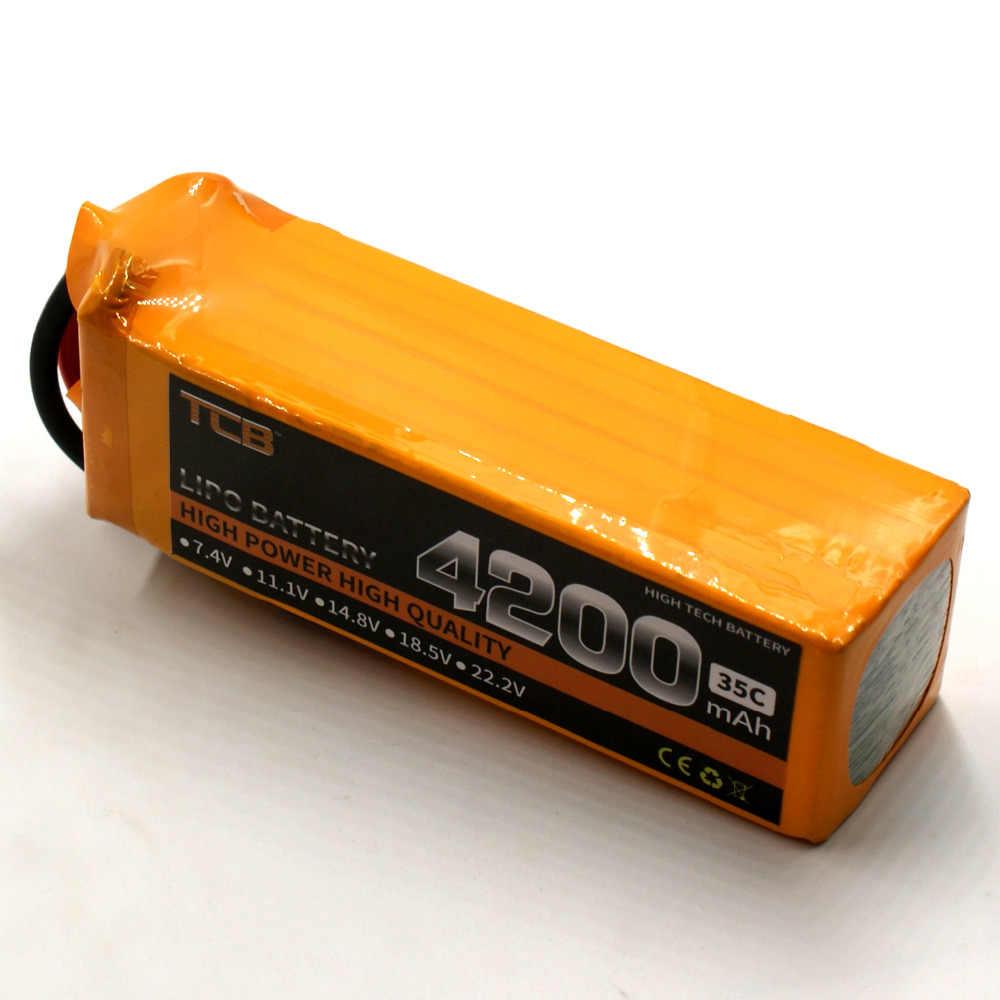 TCB RC lipo батарея 22,2 v 4200mAh 35C 6s RC самолет батарея AKKU автомобиль Лодка Li-Po батареи 6s AKKU бесплатная доставка