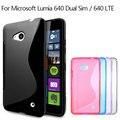 Para microsoft lumia 640 case s linha padrão flexível tpu gel case para nokia lumia 640 dual sim 640 lte telefone macio cobrir