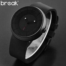Break Creative Watch Men Top Brand Luxury Rubber Strap Waterproof Matte Light Sports Male Wristwatch Clock Men relogio masculino