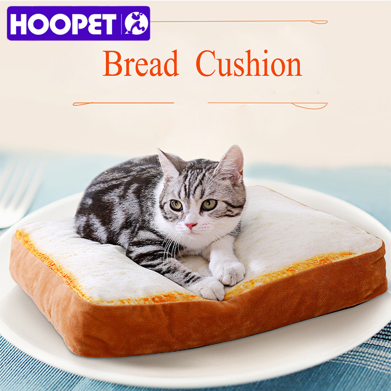 HOOPET Pet Mat For Dog Cat Kennel Teddy Four Seasons Pets Bed Soft Durable Soft Toast Bread and Poached Eggs Blanket Mats