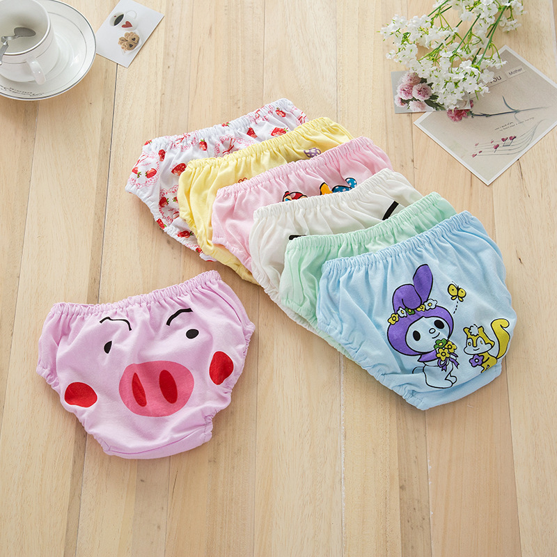 7 colors baby 100% cotton small panties. Boys and girls cute underwear. Baby bread pants, children's briefs