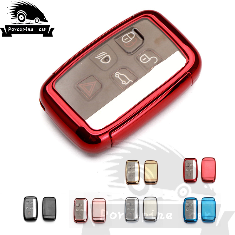 TPU Cover Car Key Case Accessories Full protection For Land <font><b>Rover</b></font> <font><b>Range</b></font> <font><b>Rover</b></font> <font><b>Evoque</b></font> Freelander Discovery Car <font><b>Keychain</b></font> Case image