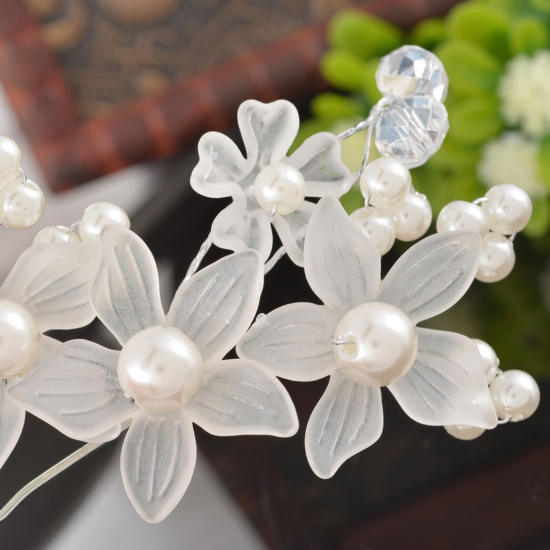 MJARTORIA Hairpins Hair Clips For Women 1PC Bride Hairdisk Flower Wedding Accessories Lovely Pearl Hairpin Hair Jewelry 10*6cm
