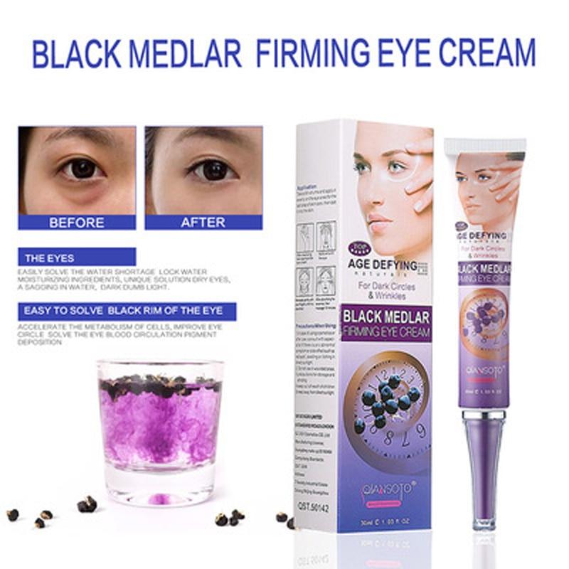 Black Medlar Firming Eye Cream Anti Aging Anti Dark Circles Advanced Repair Eye Remove Dark Circles Under Eyes Instantly Ageless