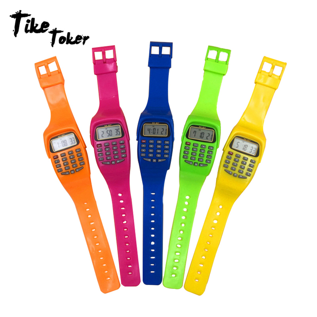 TIke Toker,NEW Boy Girl Student Sport Time Clock Electronic Digital Wrist Watch