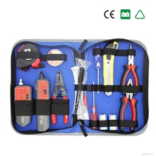 Network Computer Maintenance Repair Tool Kit Cable Tester Cross Flat Screwdriver Tiger Pliers Wire Tracker Wire