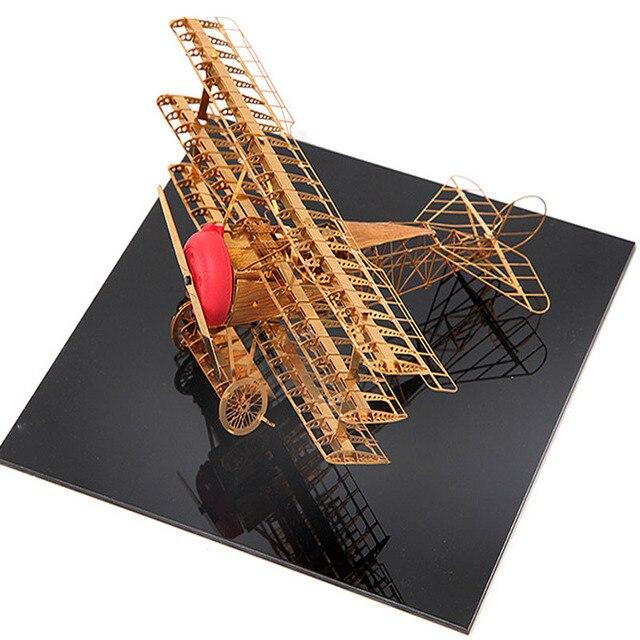 Металл 3D пазлы для Взрослых 2016 Новый Fokker Dr. Я всемирно известный DIY масштабные Модели juguetes educativos игрушки для малыша