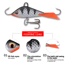 Goture 5pcs Ice Fishing Lures Lead Jig Hard Artificial Bait Balancer for Winter Fishing Bass Walleye Trout Panfis