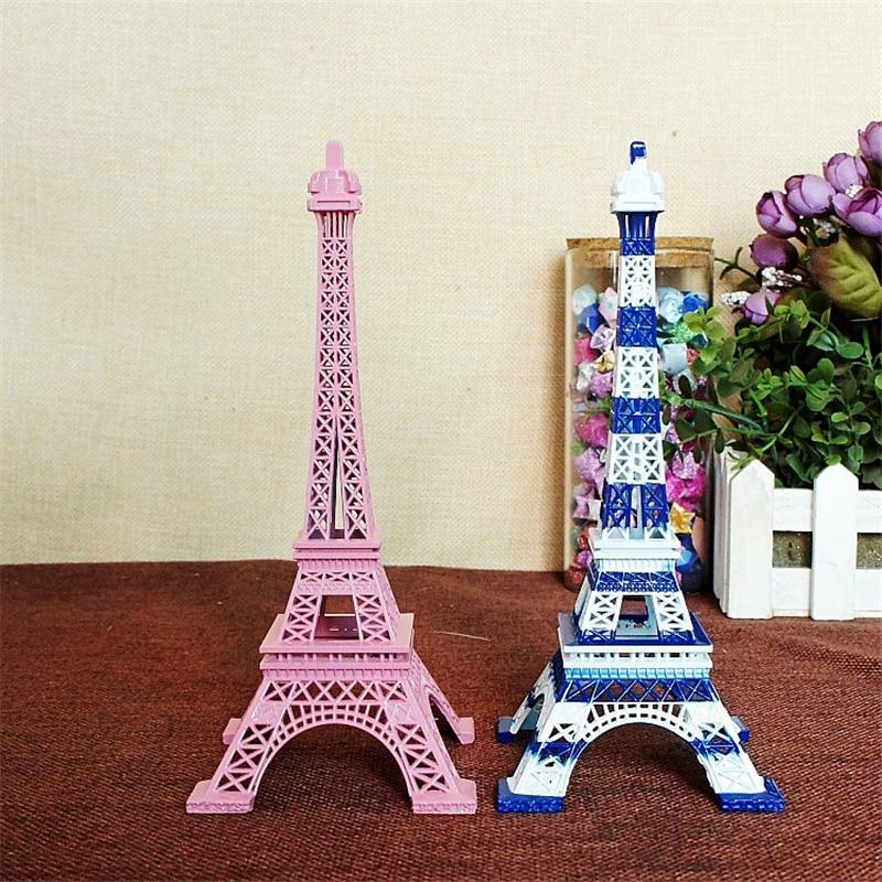 Rosa 18cm Retro Statue Figur Paris Eiffelturm Dekor Home Weihnachtsgeschenk
