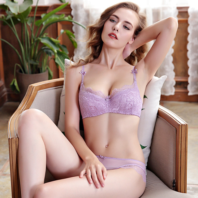93715bd1fe 2018 Sexy Women Lace Lingerie Bra Set Push Up Bras And Underwear Sets Plus  size A B C D Cup Embroidery Bra And Panty Set BS127