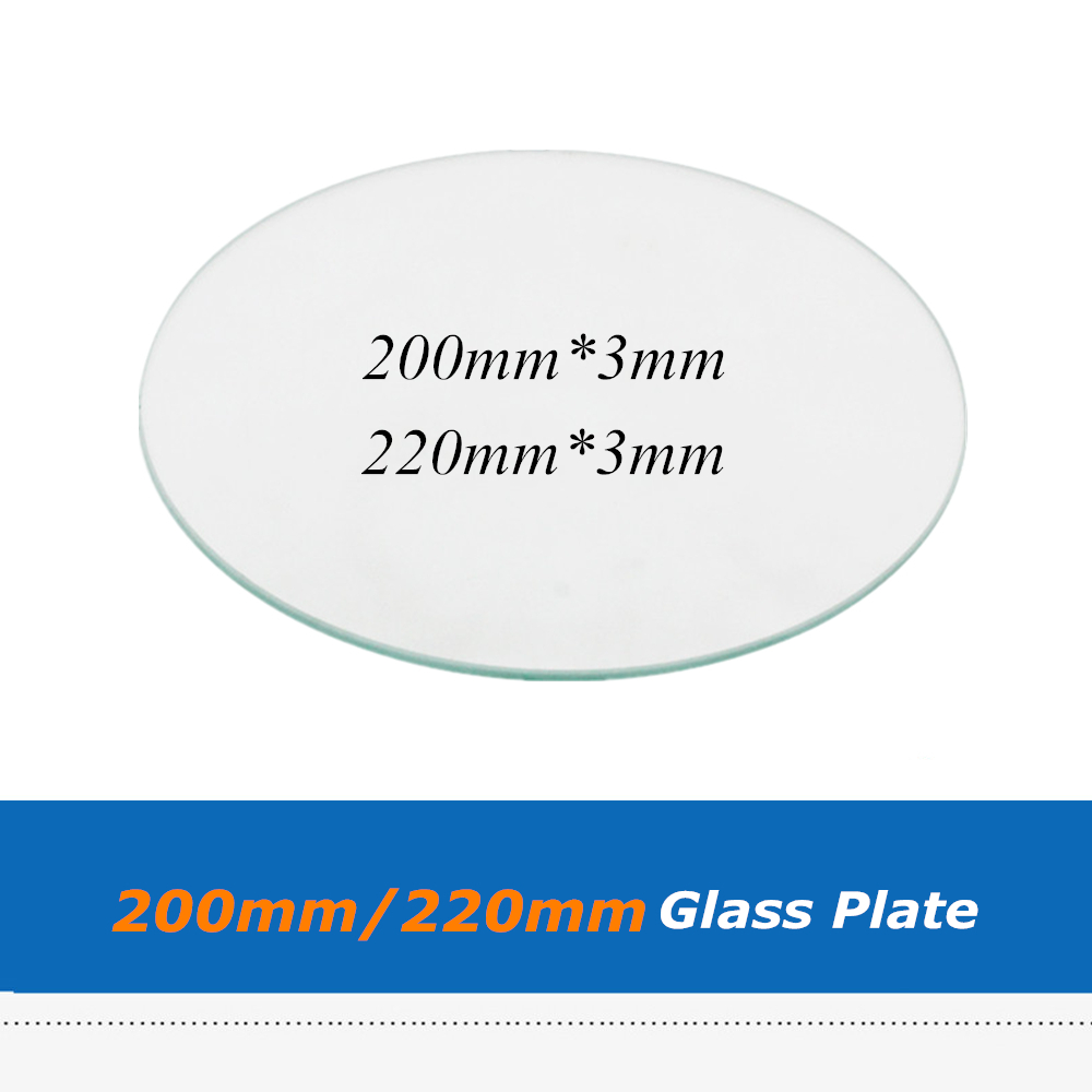 3d Printers & 3d Scanners Office Electronics 800degree 4mm Thick Dia 200mm Black Crystal Round Plate Build Table Plate Replacing Glass Plate For Kossel Mini Delta 3d Printer Pure White And Translucent