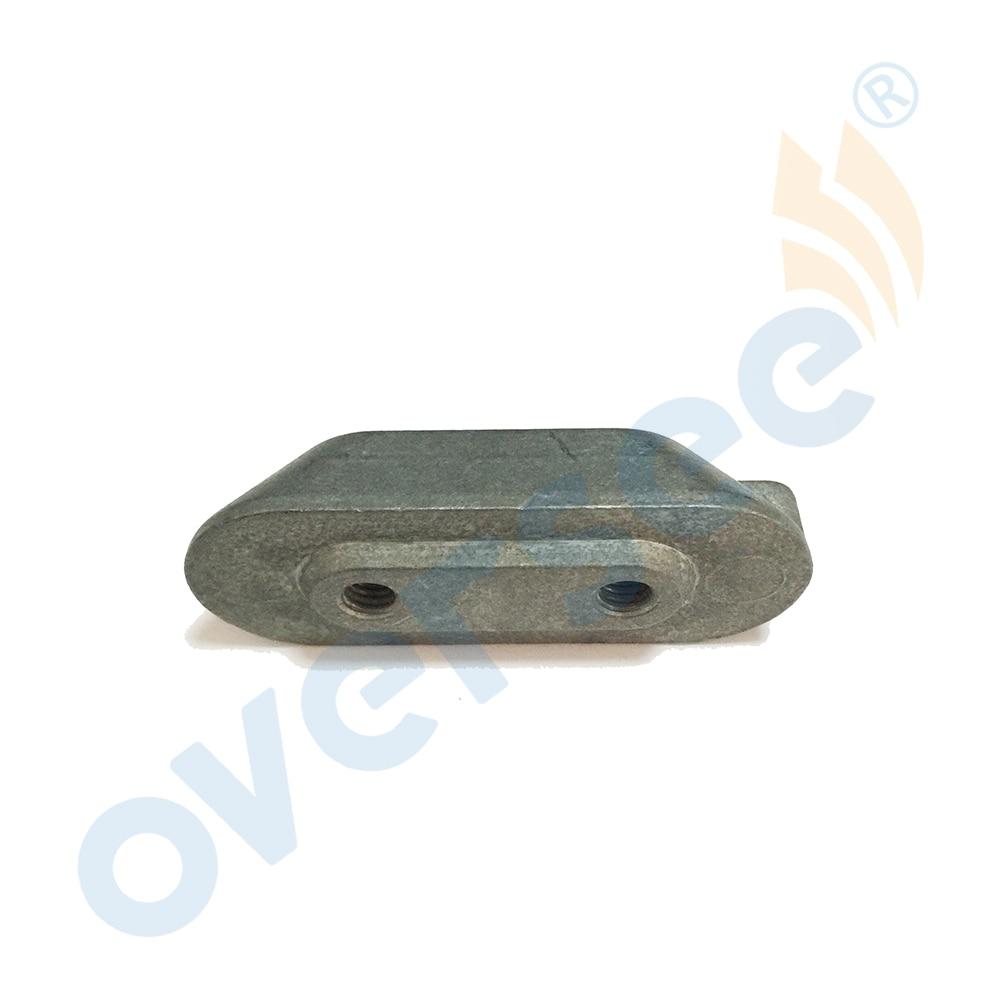 4-6-8-9.9-15 HP Outboard Anode Plate Small Zinc 6E0-45251-12 Yamaha Outboard