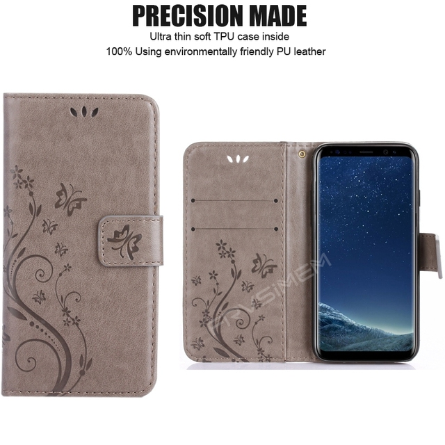 A3 A5 2017 J3 J5 J7 J2 Prime 2016 2017 Grand Prime Leather Flip Cover Wallet Case for Samsung Galaxy S5 S6 S7 edge S8 Plus